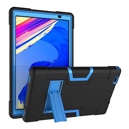 Soatuto Case for Vankyo MatrixPad S20 Tablet、Duoduogo Tab、Facetel Q3 Pro Tab、 Toscido P20 / P101 Tab 、Topelotek Mid1001S、Vuctimes N20 Tablet 10 inch Hard Back Case Built in Kickstand (Black+Blue)