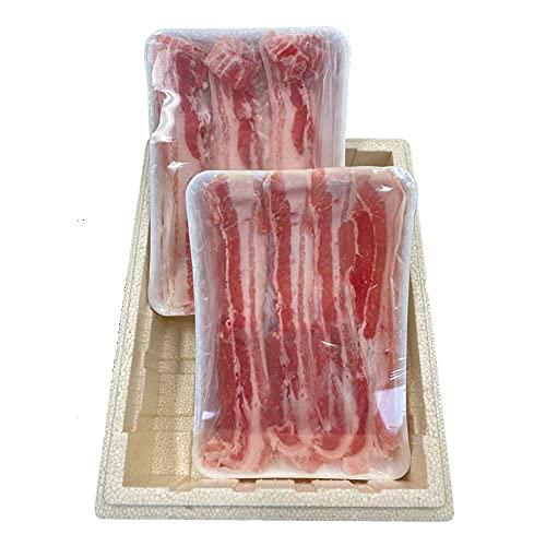 生商 黒龍吟醸豚しゃぶしゃぶ用バラ肉セット -クール冷凍-