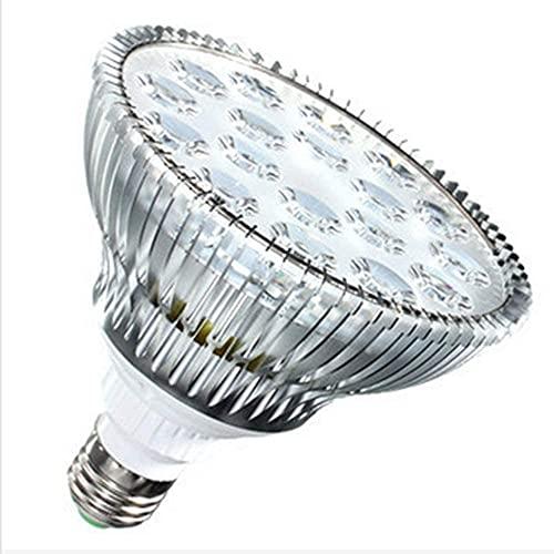 NYCUABT Luz de Acuario Sumergible 54W par38 E27 LED Luces de Acuario LED Planta de Arrecife de Coral Lámpara de Cultivo for el Arrecife de Coral Refugio Sumero de Algas Marinas (Color: S18i)