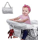 Zwini Baby Einkaufswagen Abdeckung Universal Kleinkind Hochstuhl und Warenkorb Kissen mit...