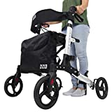 Vive Mobility Rollator Walker - Folding 4 Wheel Medical Rolling Walker...