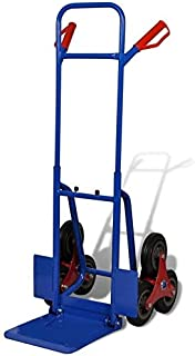 Heavy Duty Hand Truck for Stairs with 6 Rubber Wheels Warehouse Appliance Cart Up Load to 440lbs Blue