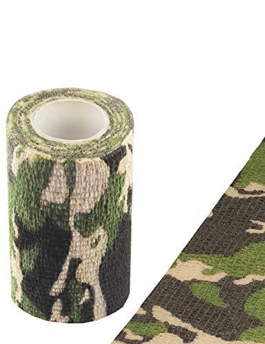 Outdoor Saxx® - Camouflage Tarn-Tape, Gewebe-Band, Tarnung wasserfest mehrfach verwendbar, Kamera, Ausrüstung, Jäger, Angler, Fotografen, Länge 4.5m, Breite 10cm