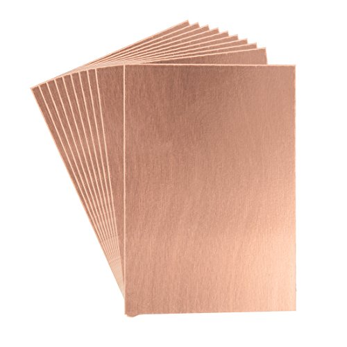 uxcell 7X10cm Single Sided Copper Clad Laminate PCB Circuit Board Brown 10pcs