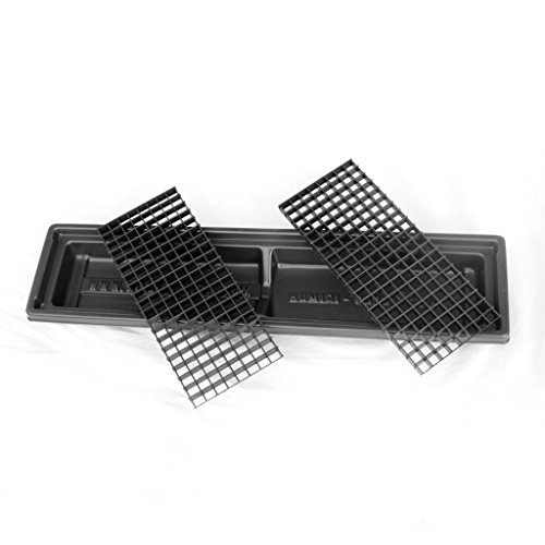 Humid-Grow Humidity Tray for Bonsai, Orchids, Other Plants HT-105 H-2 1/4IN x L-26 1/4IN x W-6 1/2IN Black
