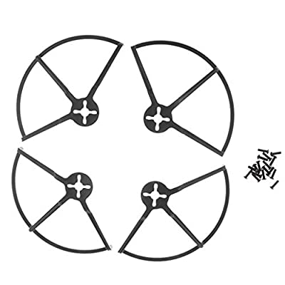 B Blesiya 4pcs Propeller Protector Frame for 4inch Propeller 1806 Motor RC Racing Drone FPV Accessories Kits - Black, 140x90x90mm