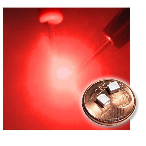 """20 SMD LED PLCC-2 3528 ROT Typ """"WTN-PLCC2-500r"""""""