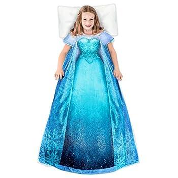 Blankie Tails | Disney Frozen Wearable Blanket - Frozen Disney Movie Double Sided Super Soft and Cozy Disney Blanket Minky Fleece Blanket  56   H x 30  W  Kids Ages 5 - 12  Frozen 1 - Elsa Dress