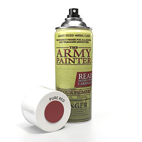 The Army Painter | Colour Primer | Pure Red | 400 mL | Espray Acrílico | Base para Pintura de Modelos Miniatura | Rojo