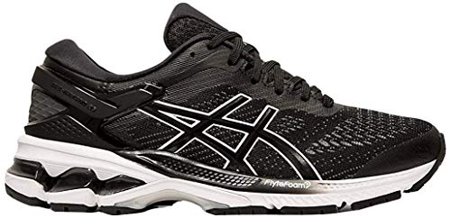ASICS Women's Gel-Kayano 26 Running Shoes, 8M, Black/White