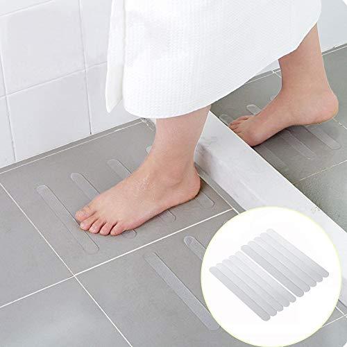 HARRYSTORE 10Pcs Anti Rutsch Bad Griff Aufkleber Rutschfesten Dusche Streifen Fußböden Sicherheit Band