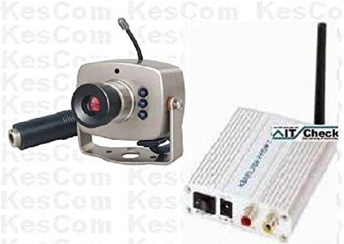 KesCom® 803D Mini Farb Funk Kamera Security Überwachung, Kanal 1 bis 4 erhältlich (Nicht einstellbar) inkl. 4 Kanal Empfänger 2,4 GHZ