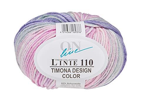 Online Wolle Trend-Collection Linie 110 Timona Design Color 50g Garn 60% Schurwolle Strickgarn Häckelgarn Farbe 306