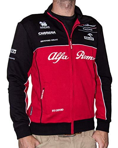 Alfa Romeo Racing Team Sauber Motorsport - Felpa tecnica da uomo, Uomo, Rosso/grigio/bianco., S