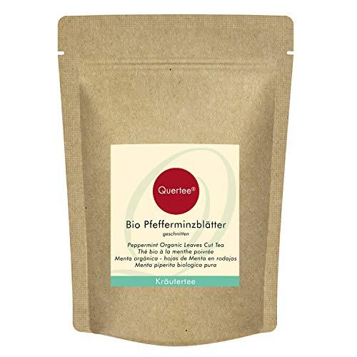 Quertee Pfefferminz Bio Pfefferminzblätter geschnitten - Bio Pfefferminztee (200 g)