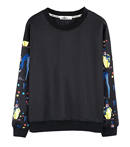 Motif Clown Femmes Hoodies Sweatshirts Casual
