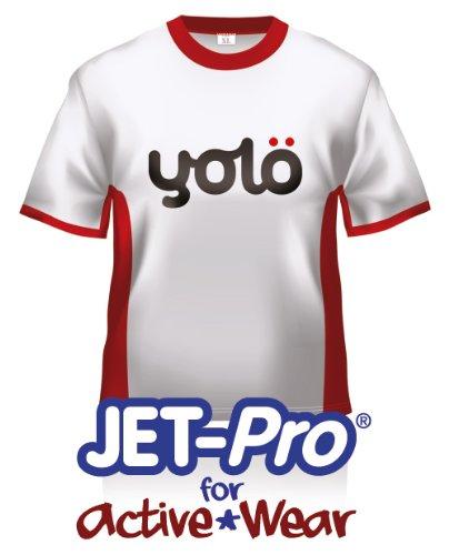 yolö creative 10 x fogli a4 di jet-pro® per active wear di trasferimento del getto di inchiostro termico carta t-shirt/trasferimenti per sintetici