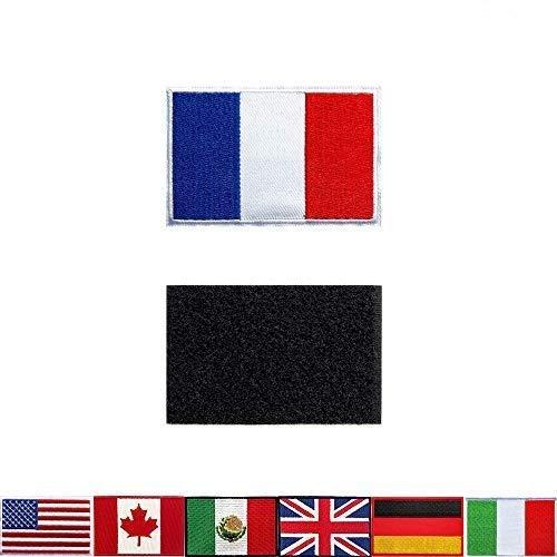 2 Stück Taktische Aufnäher Stickerei Frankreich-Flagge, für Rucksäcke, Jacken, Hosen, Patch, bestickte Armbänder der Militär-Armee-Uniform-Embleme, ideale Dekoration.