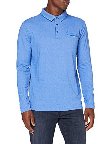 Daniel Hechter Herren Polo Jersey Langarm Shirt Polohemd, Kornblau, XL