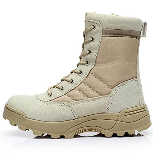 N\C Outdoor Shoes, Men's Desert Tactical Military Boots, Work Safety Shoes, SWAT Army Boots, Ankle Straps, Combat Sports Boots