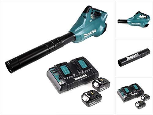 Makita DUB 362 bladblazer met 2 x 18 volt accu + 2 x 6 Ah accu + Makita DC 18 RD dubbele oplader