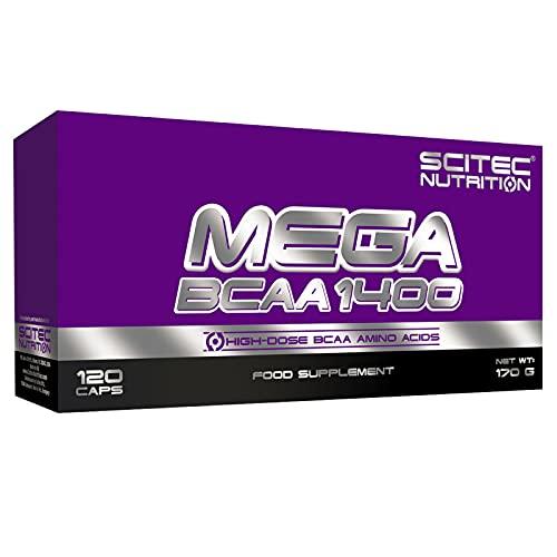 MEGA BCAA 120 Cápsulas | Amino de cadena ramificada | Pastillas de proteína de suero para el crecimiento de la masa muscular