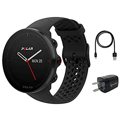 Polar Vantage M Advanced Multisport GPS Watch and Wearable4U Wall Charger Bundle
