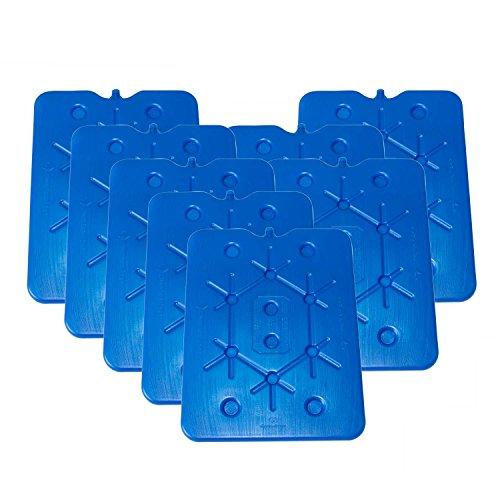 ToCi XXL Kühlakku 8er Set | Freezeboard (32x25 cm) mit je 800 ml | 8 Blaue Kühlelemente Iceakku für die Kühltasche Kühlbox Eisbox