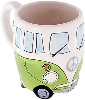 Volkswagen - Green Ceramic Shaped Coffee Mug / Cup (VW Camper Van) By Giftbrit