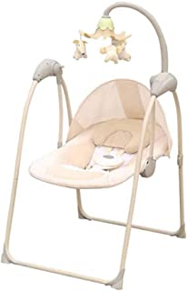 Baby Electric Cradle Chair, APP Control, Dreamy Night Light, Liberating Mother's Hand, Suitable for Children Aged 0-2,Beige