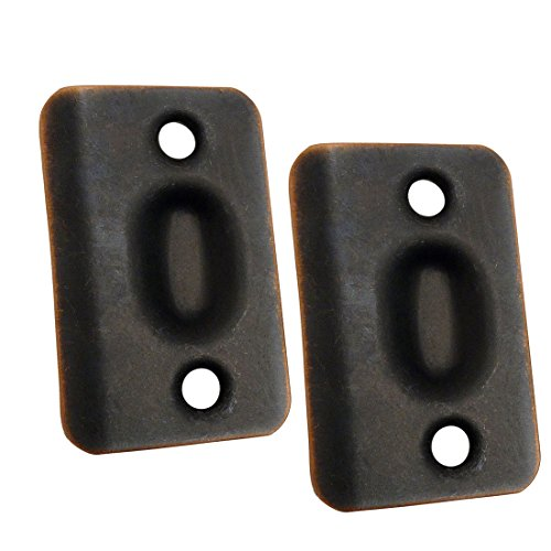 Designers Impressions Oil Rubbed Bronze Replacement Strike Plates for Ball Catch (Pair): PL-002