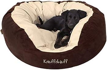 Knuffelwuff panier chien, lit pour chien, coussin, corbeille pour chien Dooly, douillet, marron-beige XXL 110 x 95cm