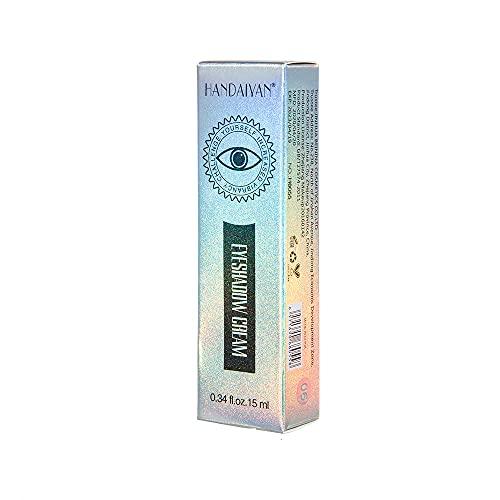 2 cajas de sombra de ojos de cuatro colores, con cepillo aplicador de doble extremo, maquillaje suave de color de larga duración, adecuado para el día y la noche