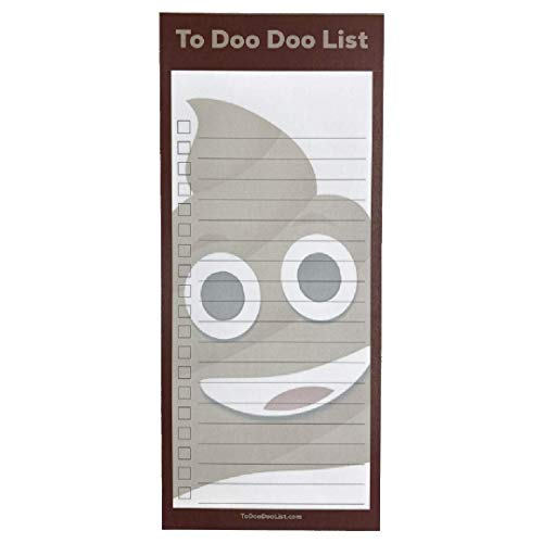 DINOSourcing To Doo Doo, Funny To Do List Notepad, Notes, To-Buy, Priorities Memo Pad shopping lists, daily check list, reminders, appointments, 3.25x8.5 inch, 50 sheets, with magnet MADE IN THE USA