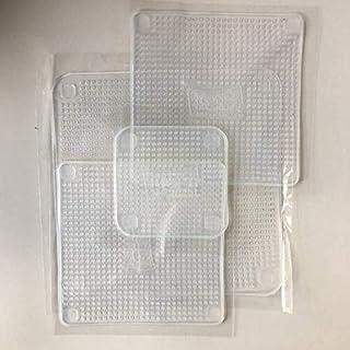 مجموعة من 4 أغطية لأوعية الطعام وأغطية قابلة للتمدد قابلة لإعادة الاستخدام تحافظ على الطعام طازجًا ولفائف الطعام البيئية