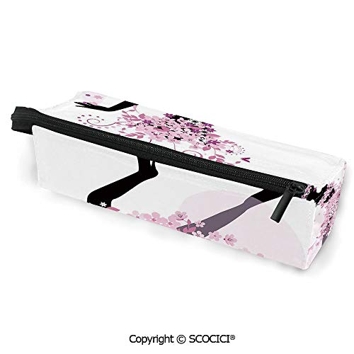 Unique PatternPortable Lightweight Eyeglasses Case Pencil Bag Silhouette of a Woman Dancing Samba Salsa Latin Dances Spain and Mexico Culture Pencil Bag for Women Girls Kids Zipper Sunglasses Holder