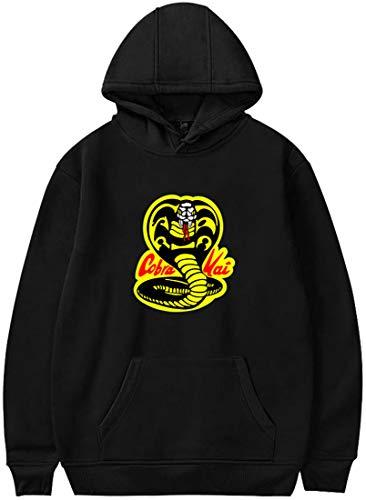 Chaos World Cobra Kai Karate Kapuzenpullover Damen Aufdruck Hoodie Kid Langarm Sweatshirt Lässig Oben(Schwarz Cobra,XXS)