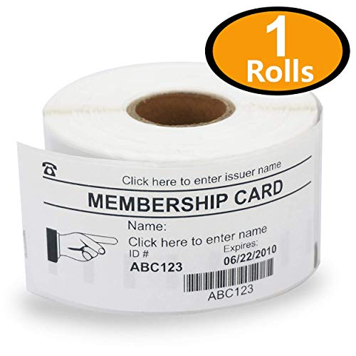 Compatible 11356 Removable Name Badge Labels Rolls - FIFTY ROLLS 89mm x 41mm for Dymo LabelWriter /& Seiko Smart Label Printers Etichette 300 Labels per Roll