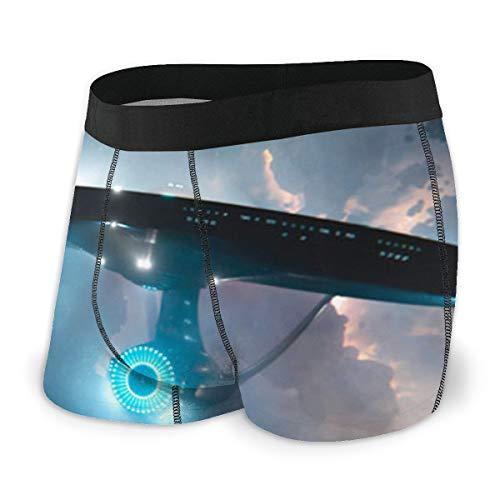Star Trek Herren Boxershorts, bequeme Polyesterfaser, bedruckt Gr. S, Schwarz
