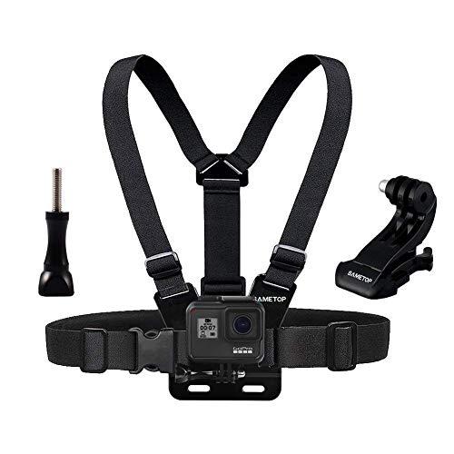 Sametop Brustgurt Halterung Gurtsystem Chest Mount Kompatibel mit GoPro Hero 9, 8, 7, 6, 5, 4, Session, 3+, 3, 2, 1, Hero (2018), Fusion, Max Kameras