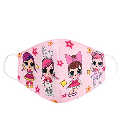 Cartoon-Mädchen-Maske, staubdicht, atmungsaktiv, Anti-Beschlag, Sonnenschutz für Kinder Gr. Einheitsgröße, rose