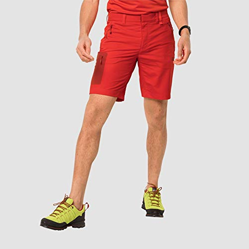 Jack Wolfskin Active Track - Pantaloncini da Uomo, Uomo, Pantaloncini Uomo, 1503791, Rosso Lava, 58