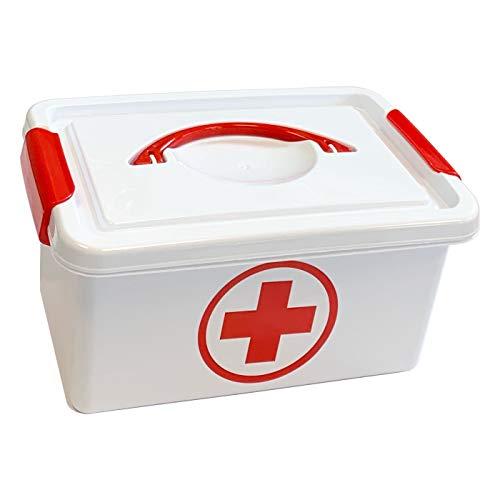 Plastic Forte Caja botiquín Primeros Auxilios con Tapa 4L. de Capacidad