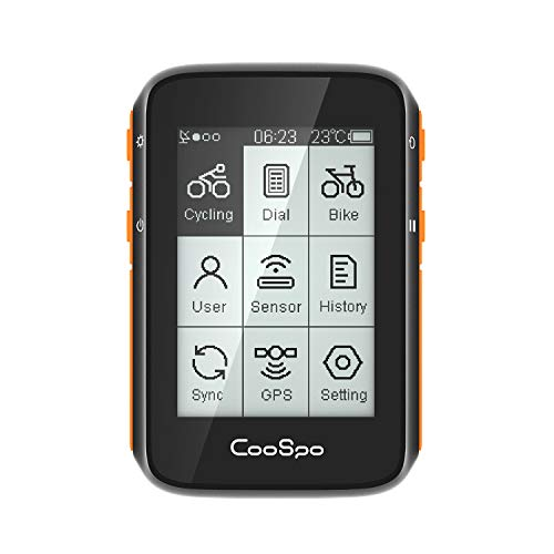 CooSpo Fahrrad Computers Drahtlos, Fahrradcomputer GPS ANT+ Funktion Fahrradtacho Radcomputer Kabellos Wasserdicht IP67 Fahrrad Kilometerzähler für Radsport (Deutsche Bedienungsanleitung)