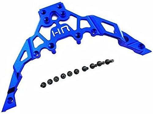 Hot Racing YET14U06 Aluminum Front Upper Chassis Bulkhead Clip (Blau) - Axial Ye by Hot Racing