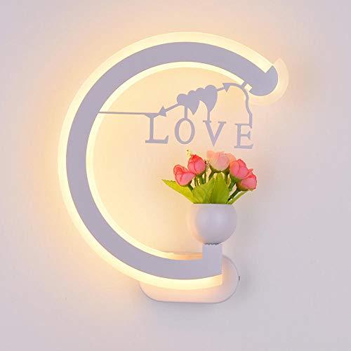 MJSM Light wandlamp voor binnen en buiten, led, liefde, alfabetisch nachtlampje, slaapkamer, persoonlijkheid, decoratie, trap, lamp, woonkamer, hal, lamp