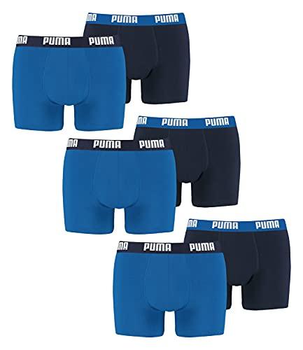 PUMA 6 er Pack Boxer Boxershorts Men Herren Unterhose Pant Unterwäsche, Farbe:420 - True Blue, Bekleidungsgröße:XL
