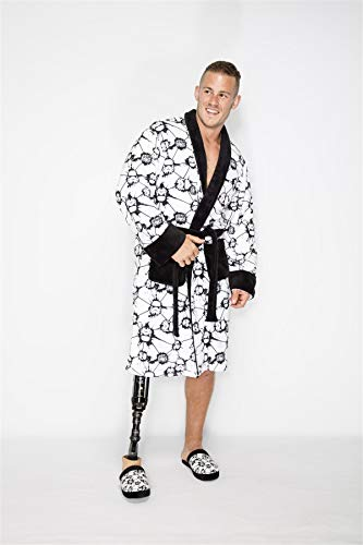 Stormtrooper AOP Star Wars Fleece Robe Black and White no Hood Black Belt Adult One Size