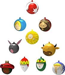 Alessi 10-Piece Christmas Bauble Set