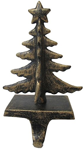 Christmas Concepts Appendiabiti con calza in oro antico - 18,7 cm - Decorazioni natalizie